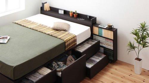 一人暮らしにおすすめの収納付ベッド